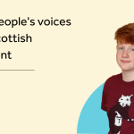 """Our young adviser Coll by the text """"Young people's voices at the Scottish Parliament"""""""