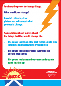 First page of our lightning bolt activity for children.