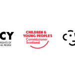The logos of the Northern Ireland Commissioner for Children and Young People, the Children and Young People's Commissioner Scotland and the Children's Commissioner for Wales.