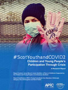 Cover of the #ScotYouthandCOVID2 report.