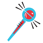 Stylised image of a thermometer at maximum temperature.